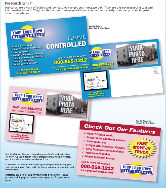 Print Products for Self Storage